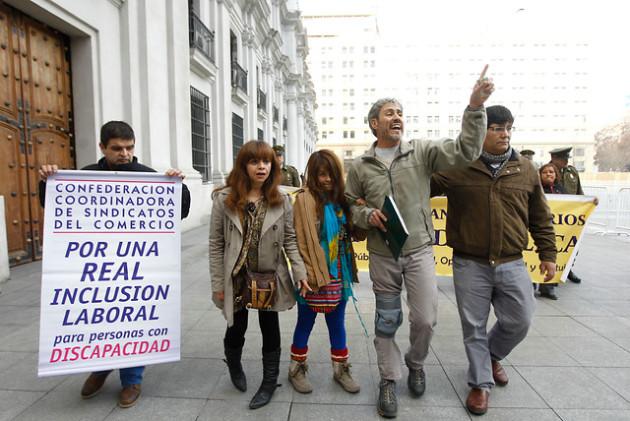 protesta discapacitados