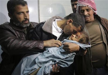 niña palestina muerta