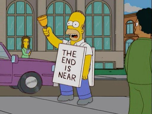 the end is near simpsons