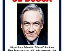 PDI entrega lista de los cinco delincuentes más buscados de Chile, Piñera es el número 1