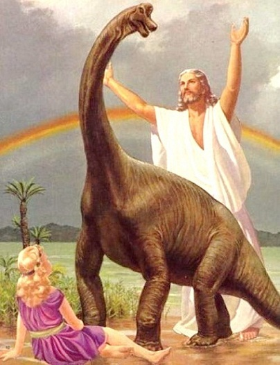 jesus dinosaurio