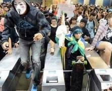 SI SE PUEDE: Video muestra como los mexicanos evitaron el alza del transporte evadiendo su pago