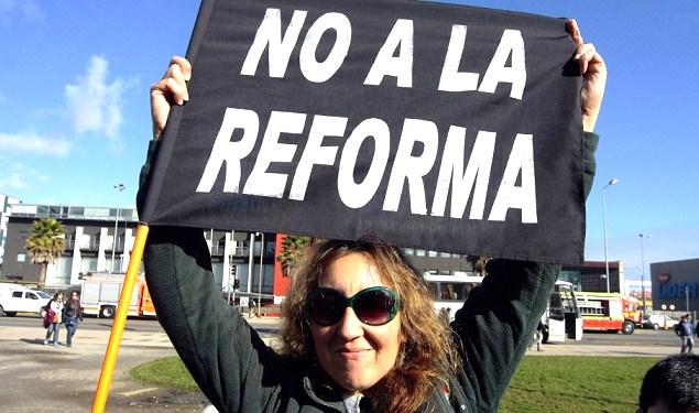 Marcha de la CONFEPA en Concepción.