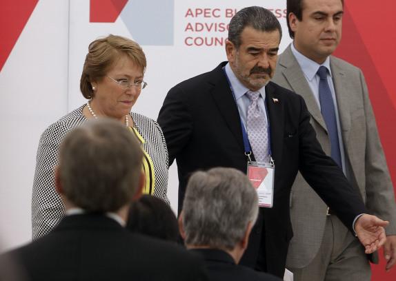 """Michelle  Bachelet asiste al Segundo Encuentro del Consejo Consultivo Empresarial de la APEC 2014""""."""
