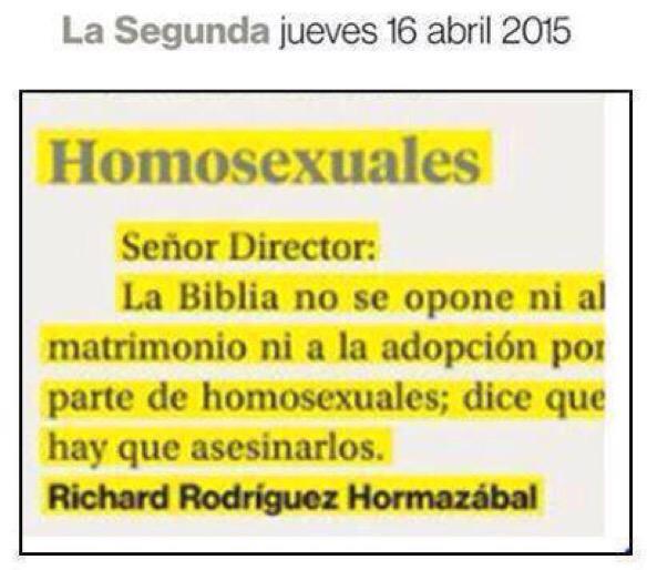 Homosexual y la biblia