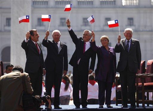 Sebastian Pinera, Eduardo Frei, Ricardo Lagos, Michelle Bachelet, Patricio Aylwin
