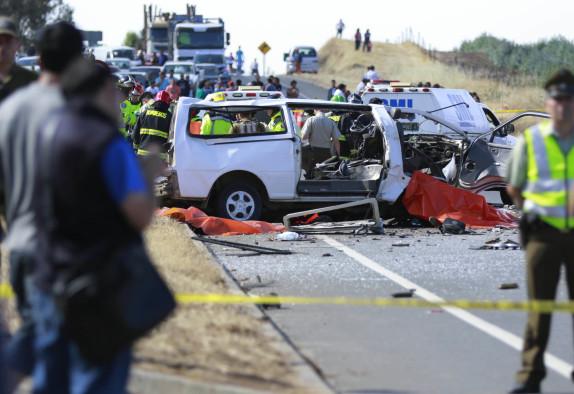 Nueve fallecidos en accidente de transito en Angol