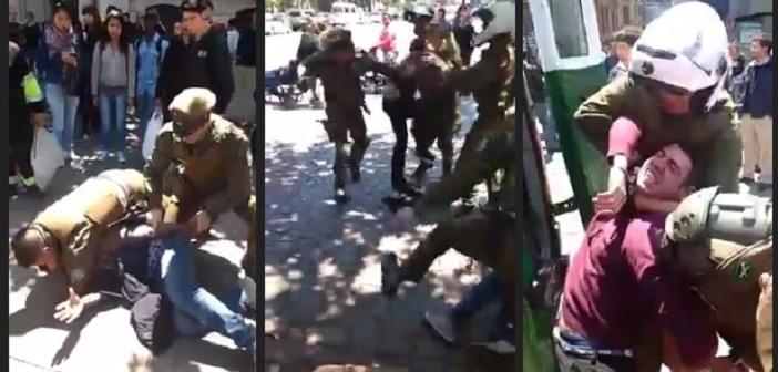 VIDEO: Carabineros xenófobos le sacan la chucha a un haitiano y un venezolano