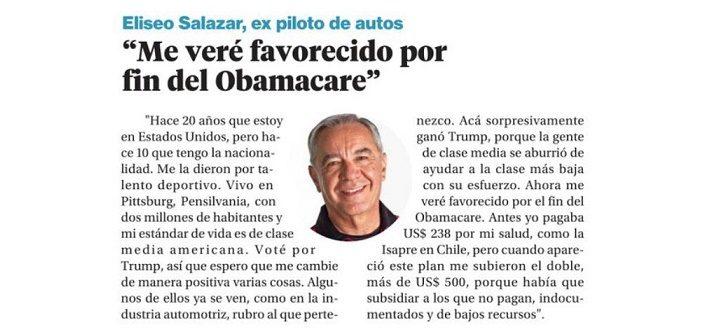Hacen mierda a Eliseo Salazar por alegrarse que los pobres se quedarán sin acceso a salud