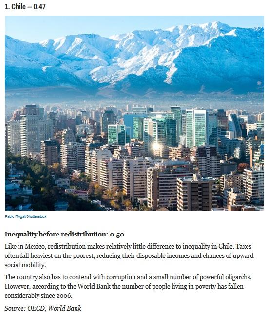 desigualdad social chile ocde 2