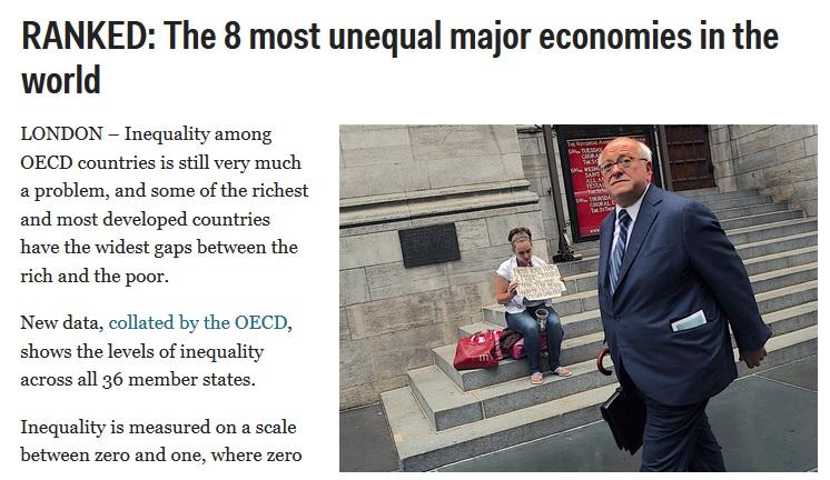 desigualdad social chile ocde