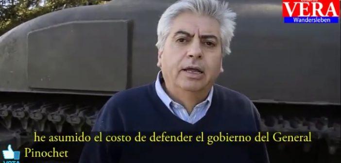 """VIDEO: Candidato UDI hace campaña con un tanque denunciando que lo """"discriminan"""" por ser un chupafusiles fascista"""