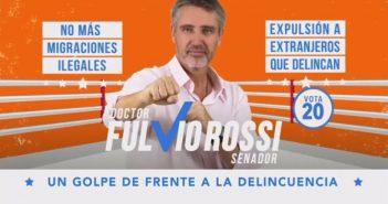 Desesperado por no perder su cargo el delincuente Fulvio Rossi también recurrió al fascismo y la xenofobia para ganar votos