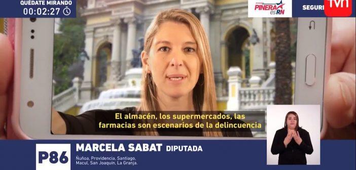 Franja Electoral: Marcela Sabat criticó la delincuencia y su cagá de padre se robó todo Ñuñoa