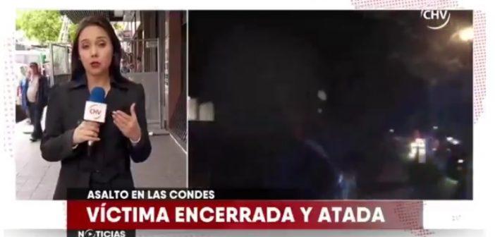 """VIDEO   Periodista de CHV tras asalto en Las Condes: """"Afortunadamente fue la asesora del hogar la que pasó este susto"""""""