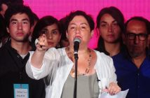19 de noviembre de 2017/SANTIAGO La candidata presidencial del Frente Amplio, Beatriz Sanchez, habla tras saber sus resultados de la votacion de las Elecciones Presidenciales 2017. FOTO: SEBASTIAN BELTRAN GAETE/AGENCIAUNO