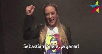 Piñera desesperado: Para empatar apoyo de Pepe Mujica a Guillier publicó un video de Lilian Tintori que más encima fue grabado en abril