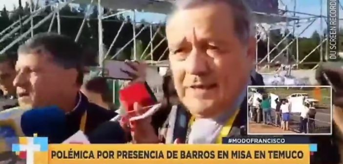 Igual que los medios chilenos: Periodista argentina encaró al Obispo Barros (cómplice de Karadima) diciéndole que deje la sotana