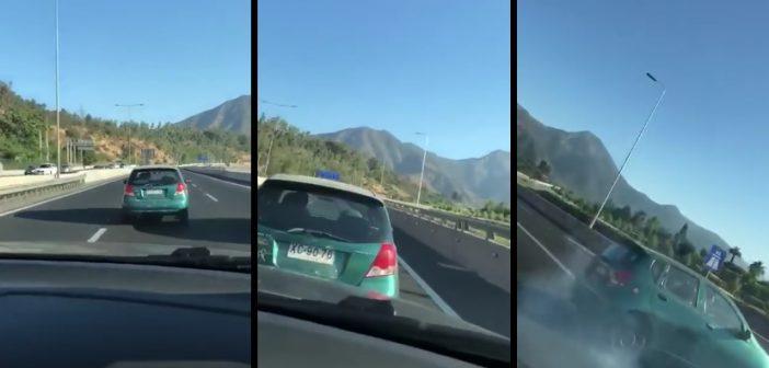 VIDEO: Cuicos de mierda se graban mientras chocan un auto