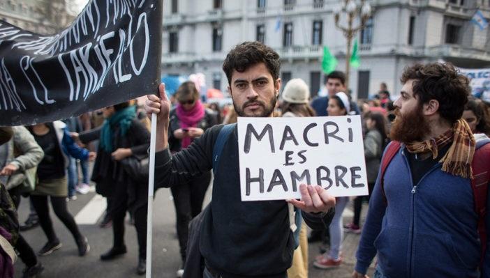 Resultado de imagen para mauricio macri y los pobres de argentina