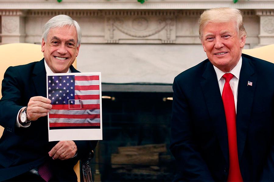piñera trump bandera culia