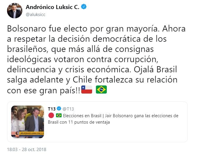 luksic fascista bolsonaro