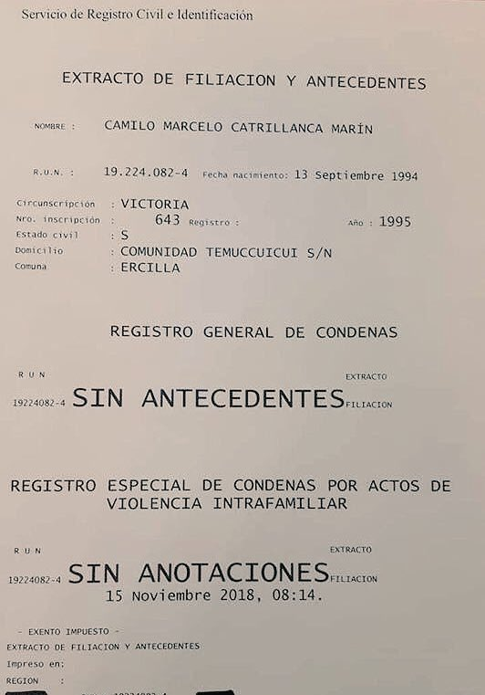 antecedentes penales catrillanca piñera 1
