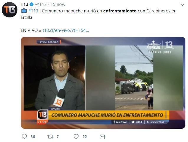 canal 13 camilo catrillanca 2