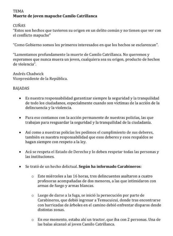 guion inmoral para justificar muerte de Camilo Catrillanca 1