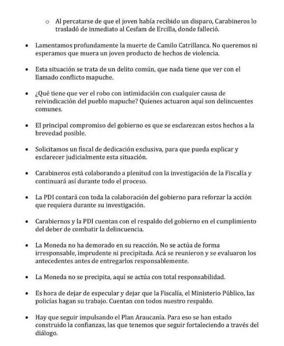 guion inmoral para justificar muerte de Camilo Catrillanca 2