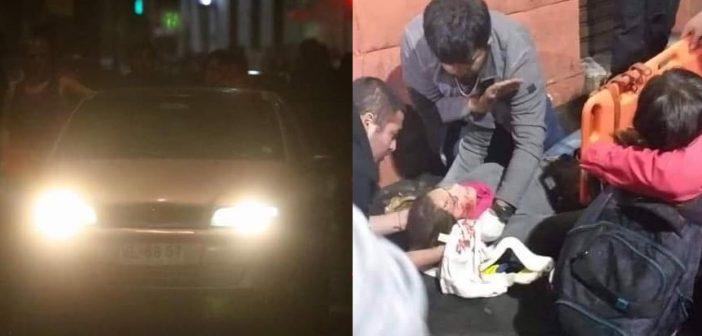 VIDEO: Atropellan a personas que protestaban a favor del Paro Portuario, Carabineros protegió al auto permitiendo que se diera a la fuga