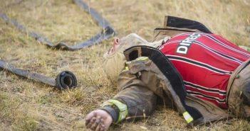 bombero cansado chile