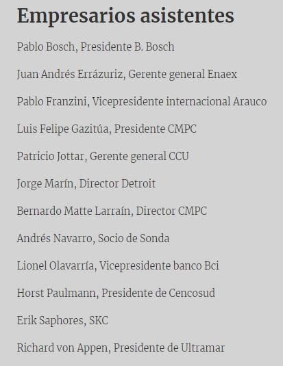 empresarios chilenos con bolsonaro