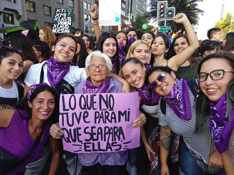 marcha feminista 74
