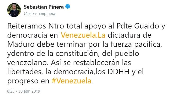 piñera golpista venezuela