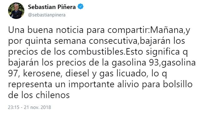 piñera combustible 1