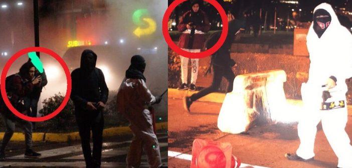 Nuevo montaje de Carabineros: Acusaron a fotógrafo de quemar una micro, imágenes muestran que sólo estaba sacando fotos
