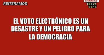 voto electronico no sirve