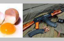 COMO MIERDA UN HUEVO VA A SER MÁS PELIGROSO QUE UN AK-47 FACHOS DE MIERDA