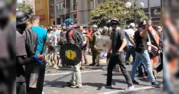 fascistas por el RECHAZO protegidos por carabineros 6