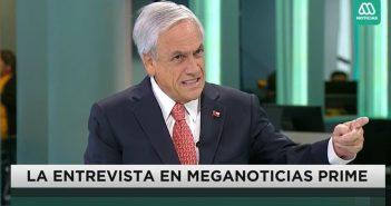 piñera entrevista mega mentiroso de mierda