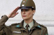 Tonka Tomicic participa del cambio de guardia del Palacio de la Moneda