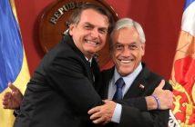 El presidente de la República de Chile realiza una declaración conjunta con el presidente de Brasil
