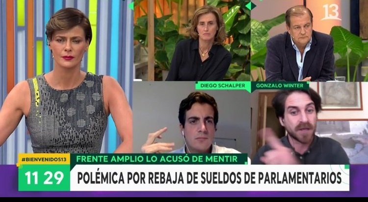 matinal canal 13 luksic fascista enemigos del pueblo