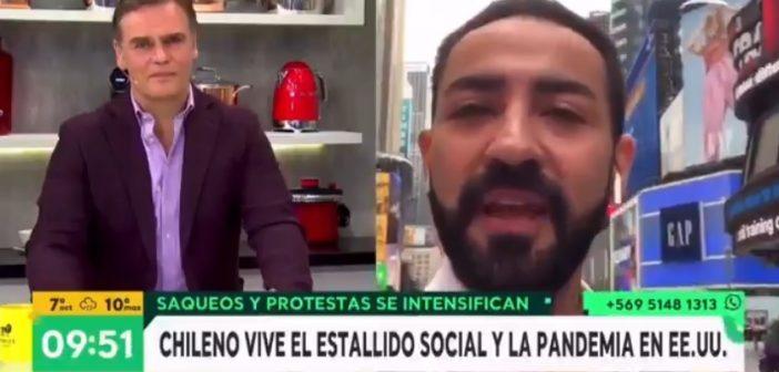"""VIDEO: Agarran pal webeo a chileno moreno por decir que """"la gente blanca como él"""" tiene miedo de las protestas en Estados Unidos"""
