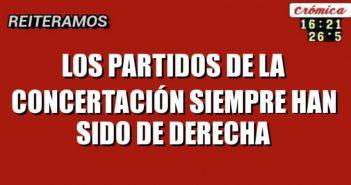 LOS PARTIDOS DE LA CONCERTACIÓN SIEMPRE HAN SIDO DE DERECHA