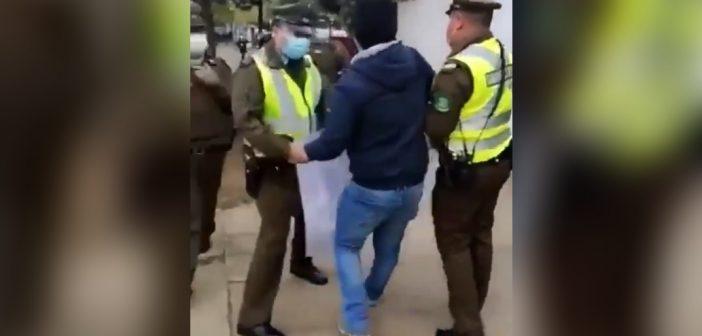 VIDEO: Hombre fue detenido por gritarle a Piñera que la gente estaba pasando hambre