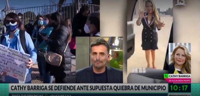 VIDEO: Cathy Barriga se volvió loca tras ser increpada por desfalcar Maipú completo