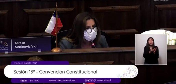 El show de la Derecha: La nazi Teresa Marinovic se puso a gritar como loca en la Convención Constitucional